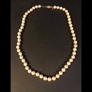 Jewelry - Costume pearl necklace , secure closure Monet.
